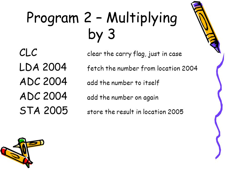 Program 2 – Multiplying by 3