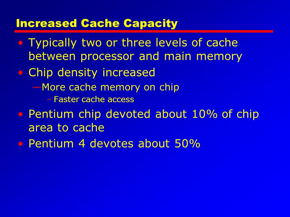 Increased Cache Capacity