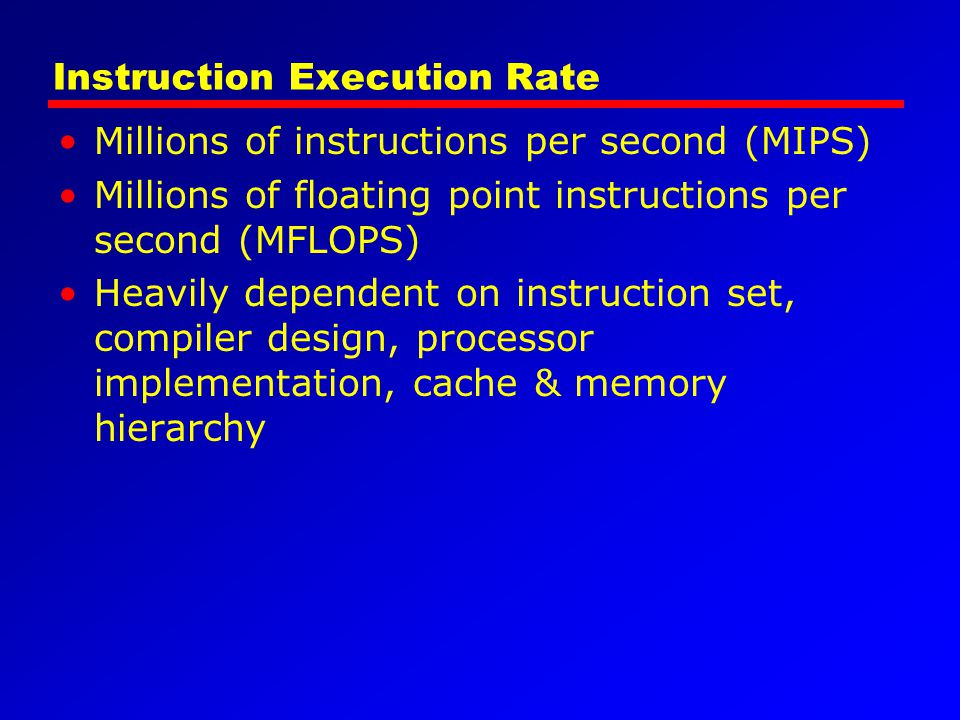 Instruction Execution Rate