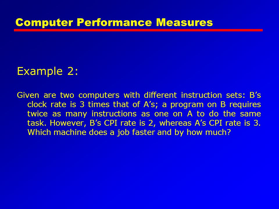 Computer Performance Measures