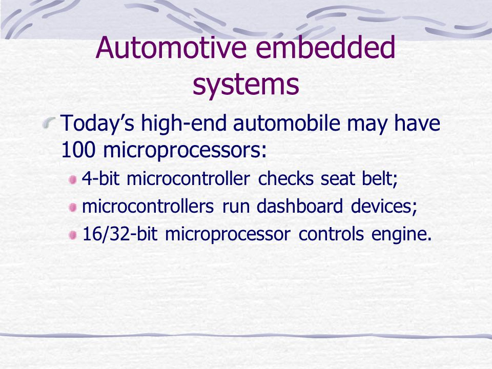 Automotive embedded systems