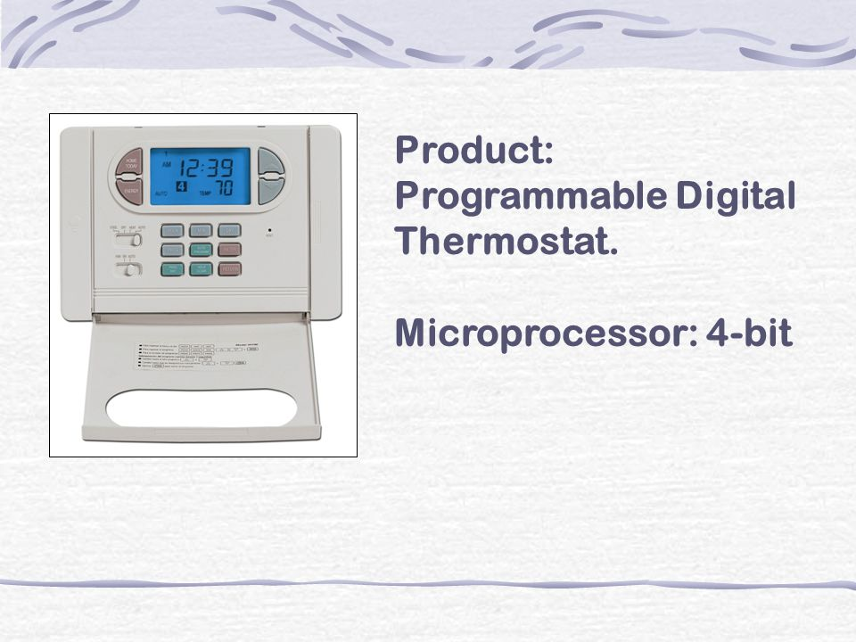 Product: Programmable Digital Thermostat.