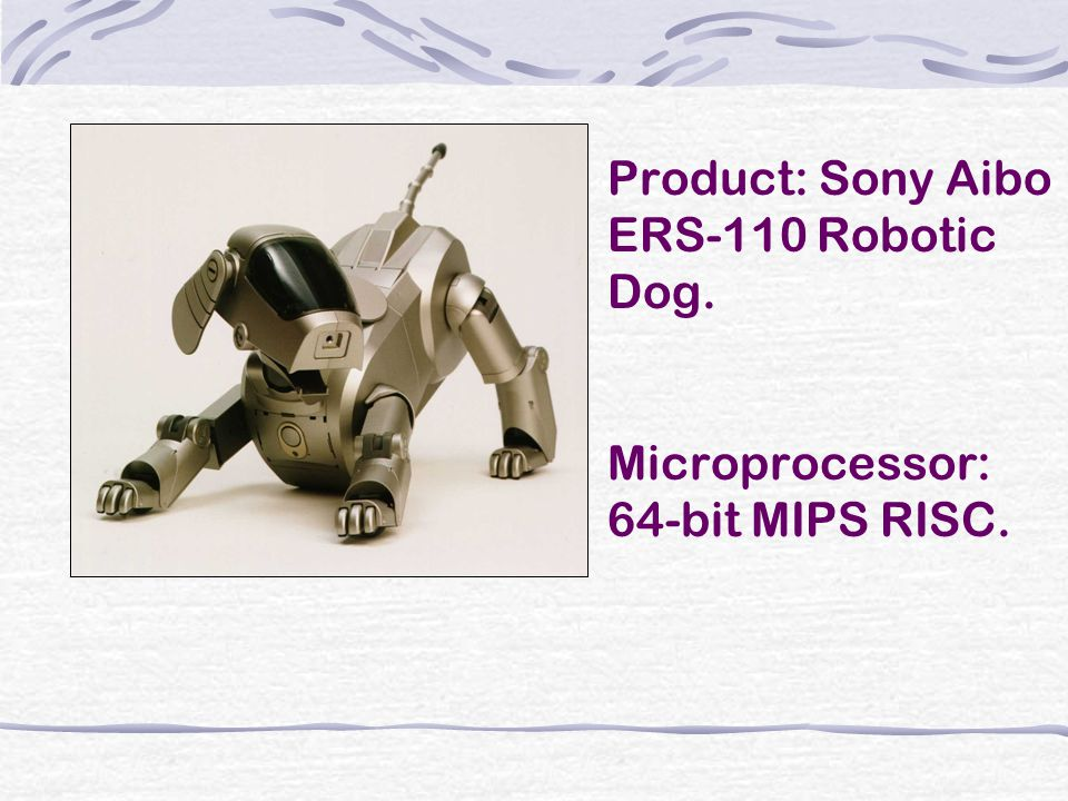 Product: Sony Aibo ERS-110 Robotic Dog