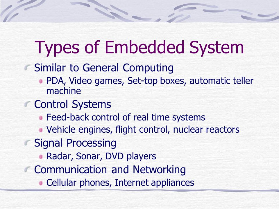 Types of Embedded System