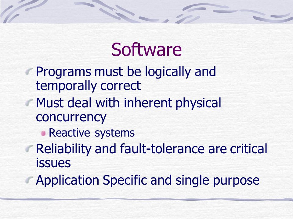 Software Programs must be logically and temporally correct