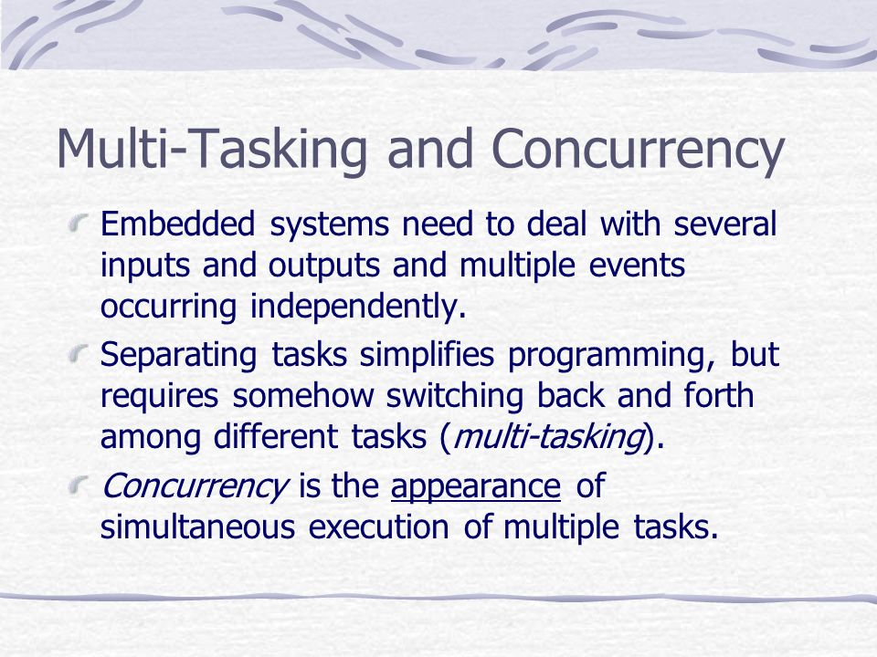Multi-Tasking and Concurrency