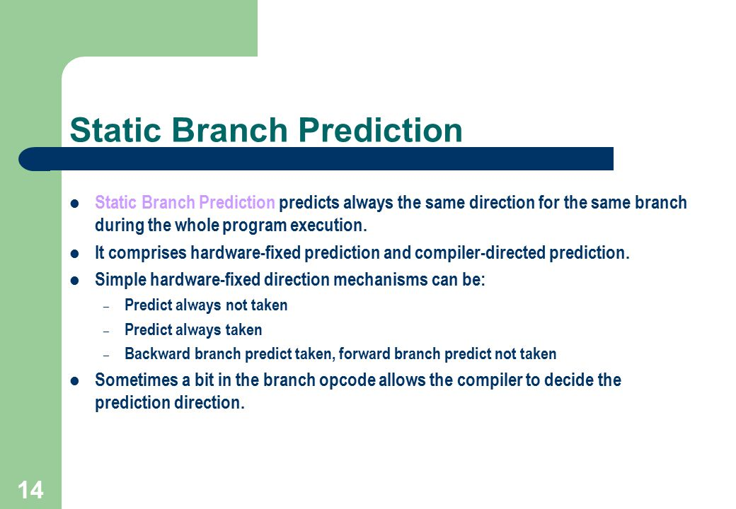 Static Branch Prediction