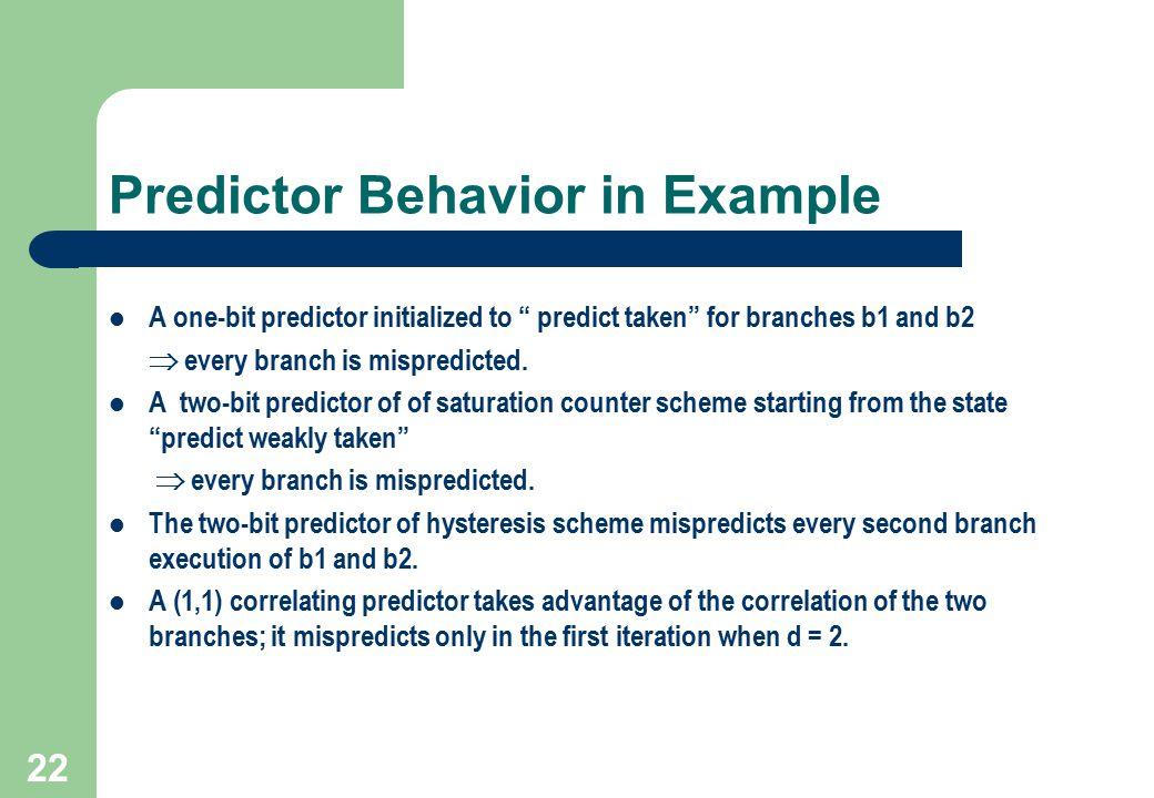Predictor Behavior in Example