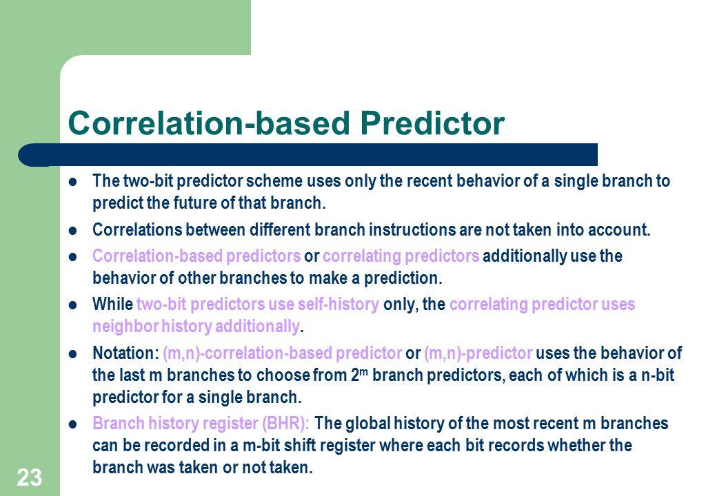 Correlation-based Predictor
