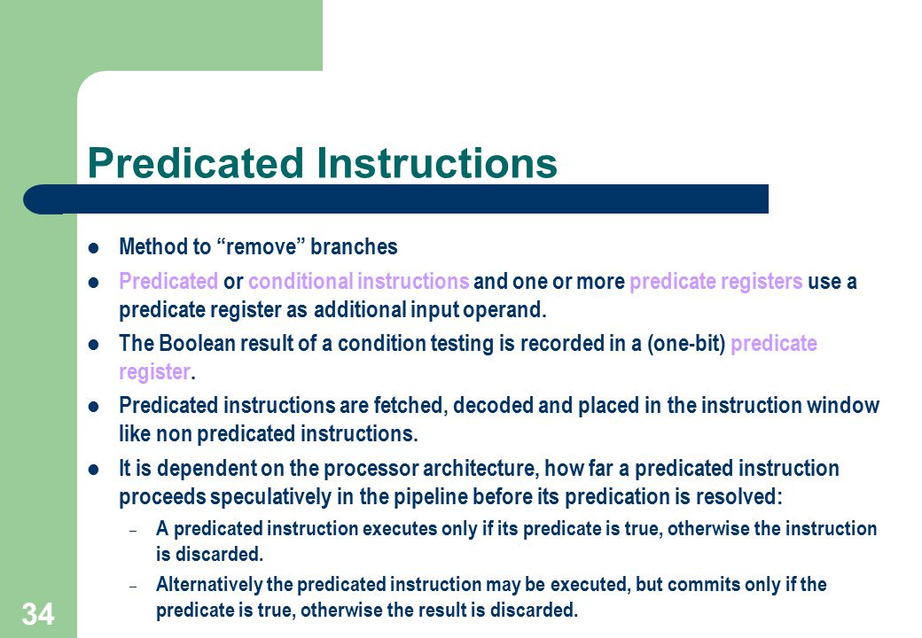 Predicated Instructions
