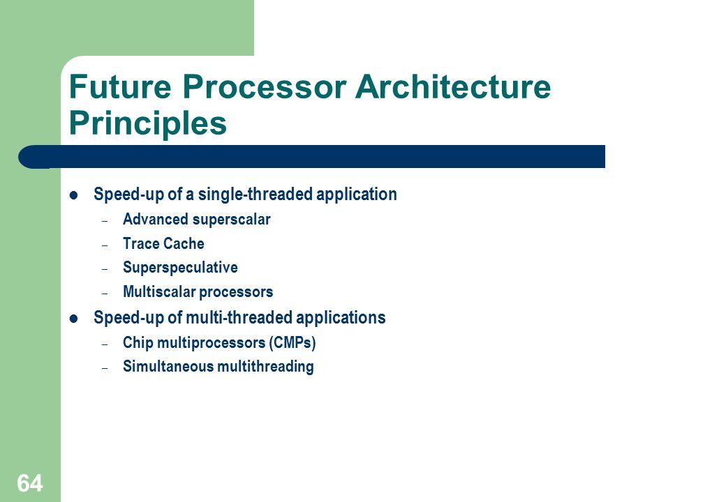 Future Processor Architecture Principles