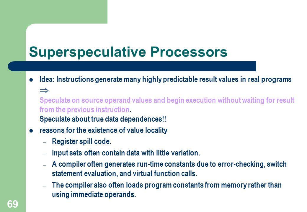 Superspeculative Processors