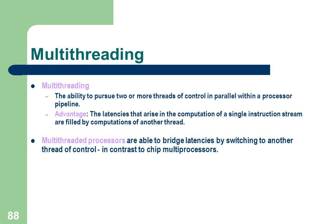 Multithreading Multithreading