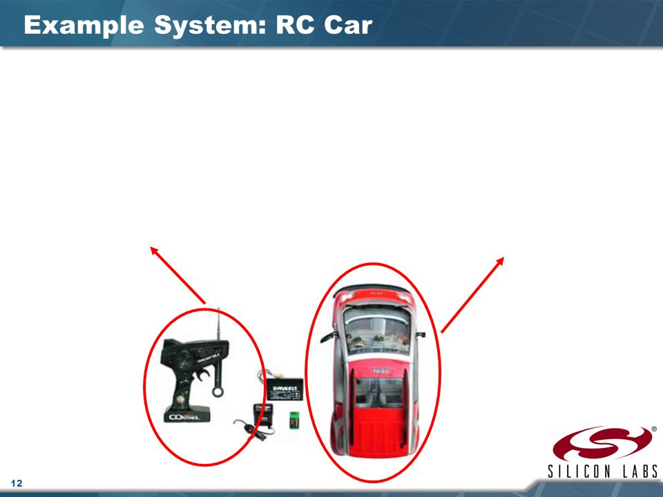 Example System: RC Car Example system: RC Car – remote control section