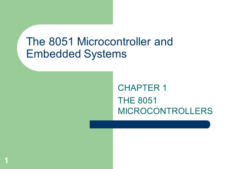 the 8051 microcontroller and embedded systems ppt video online