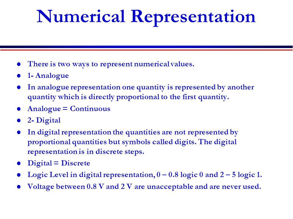 Numerical Representation