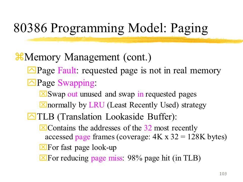 80386 Programming Model: Paging
