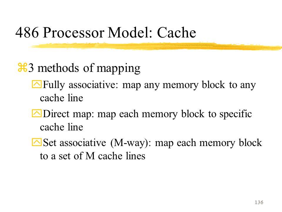486 Processor Model: Cache