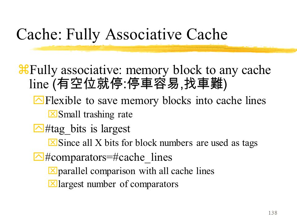 Cache: Fully Associative Cache