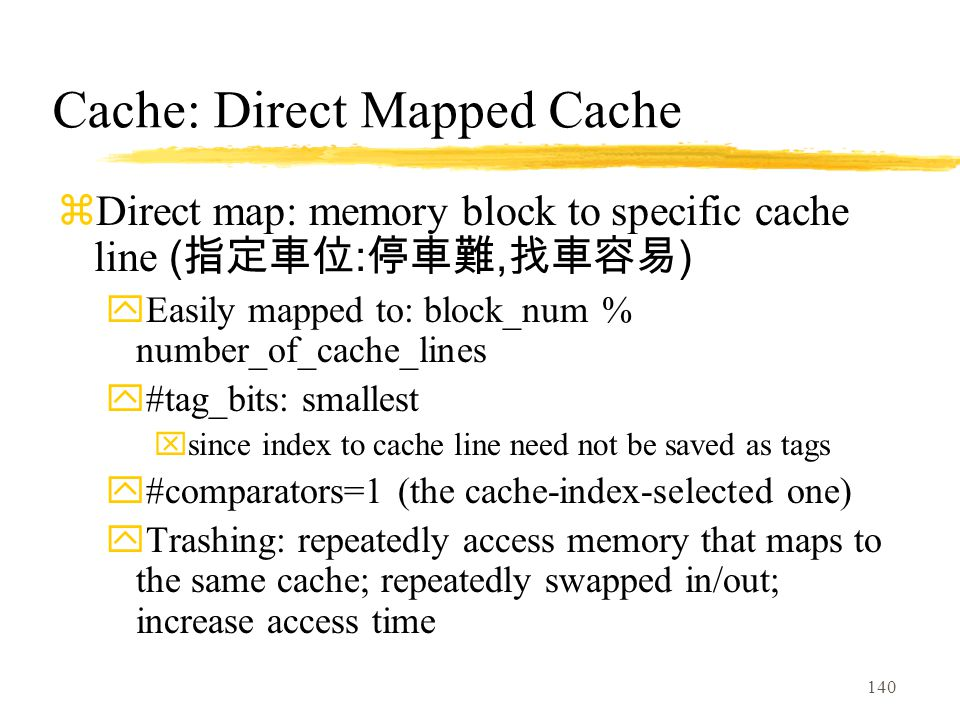 Cache: Direct Mapped Cache