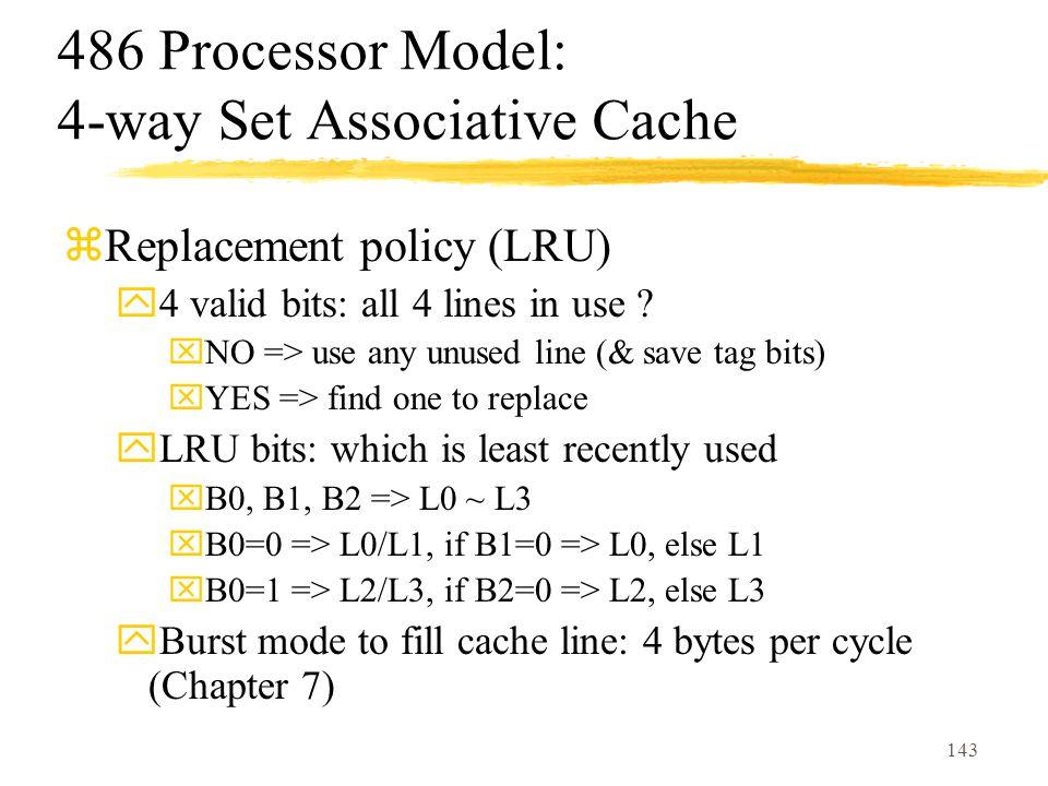 486 Processor Model: 4-way Set Associative Cache