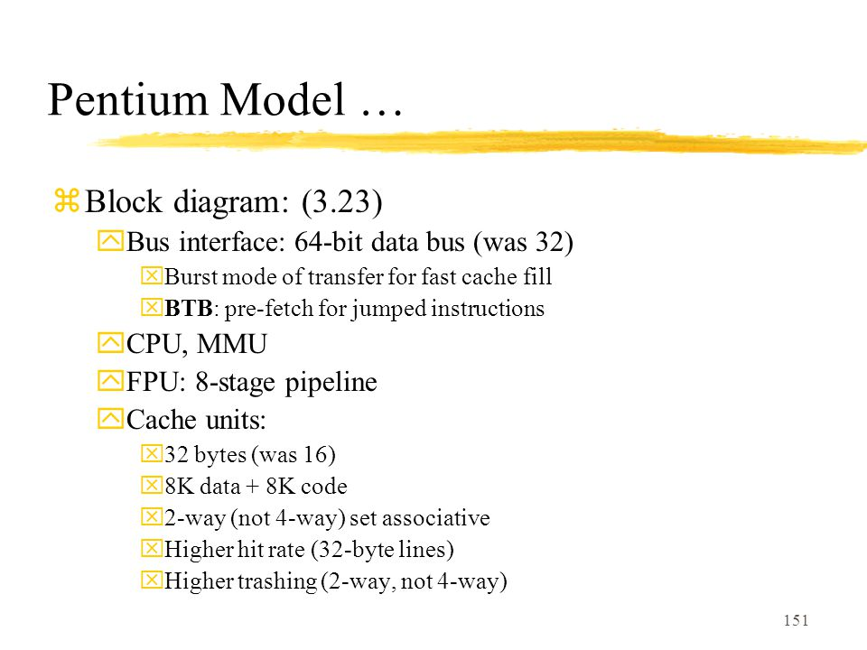 Pentium Model … Block diagram: (3.23)