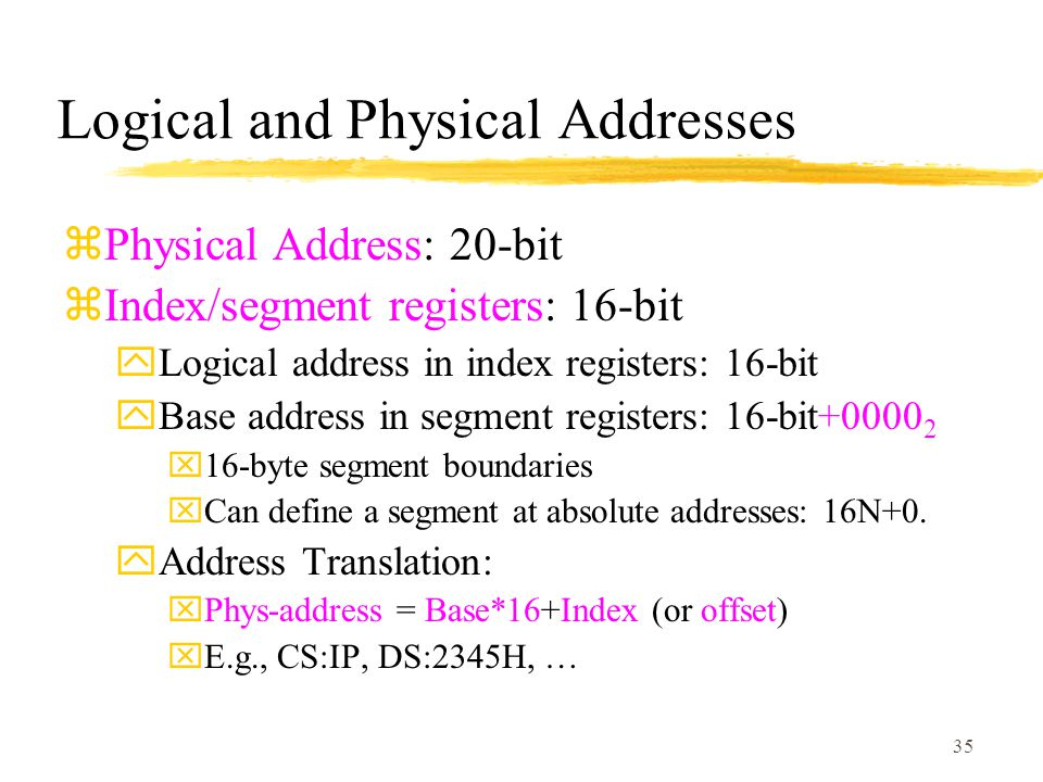 Logical and Physical Addresses