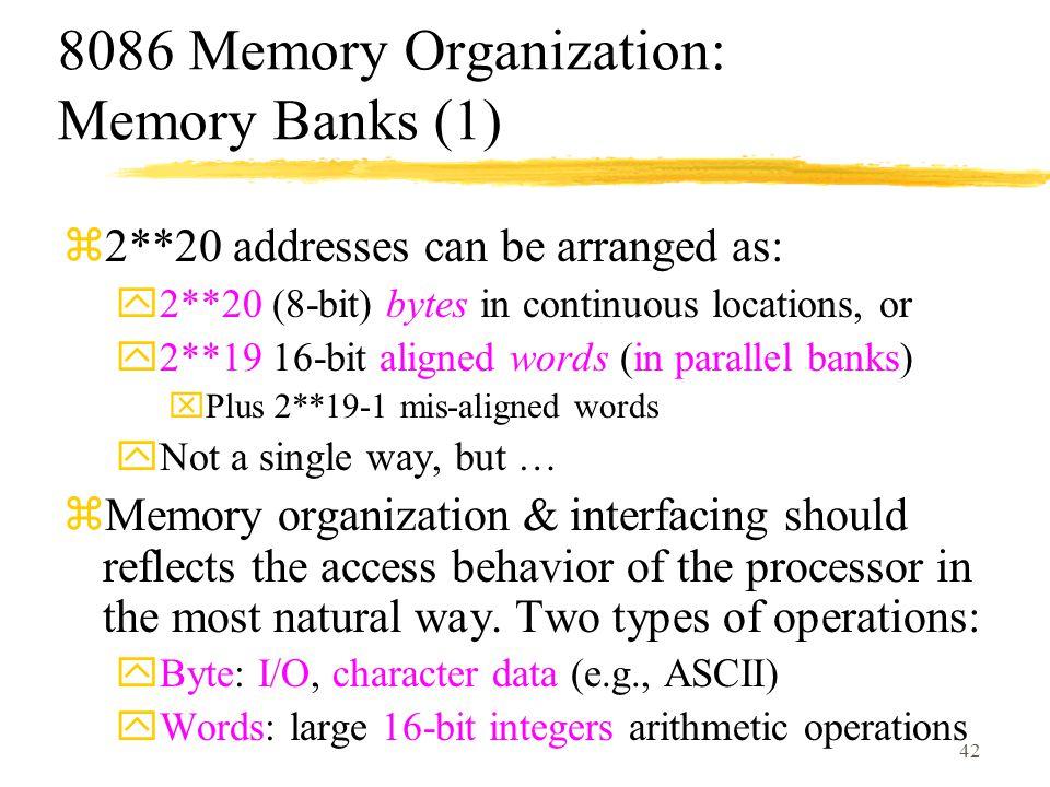 8086 Memory Organization: Memory Banks (1)
