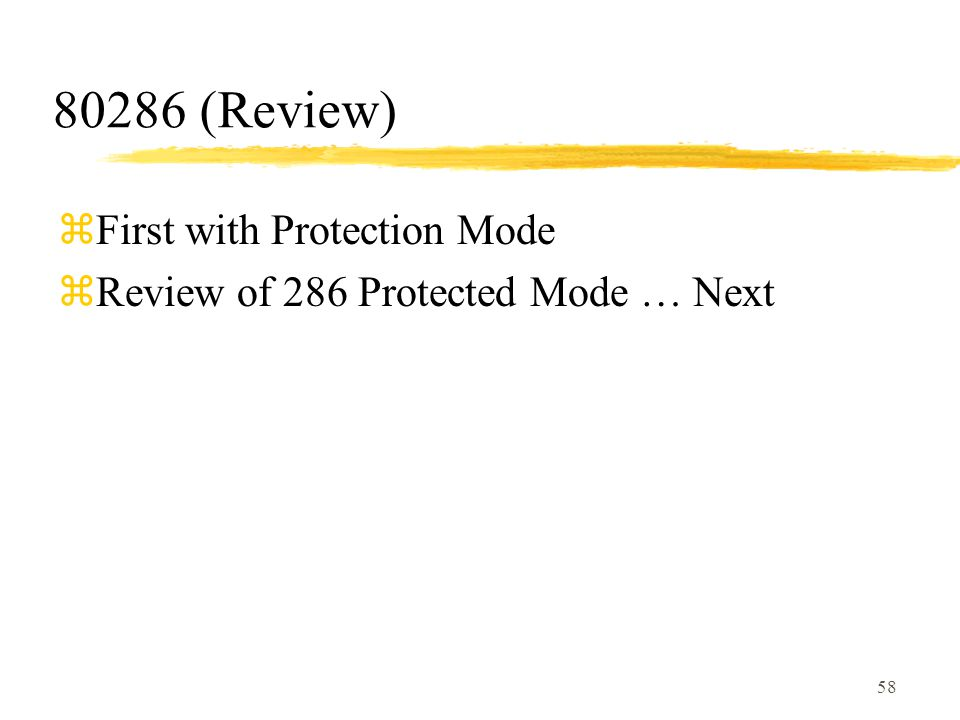 80286 (Review) First with Protection Mode
