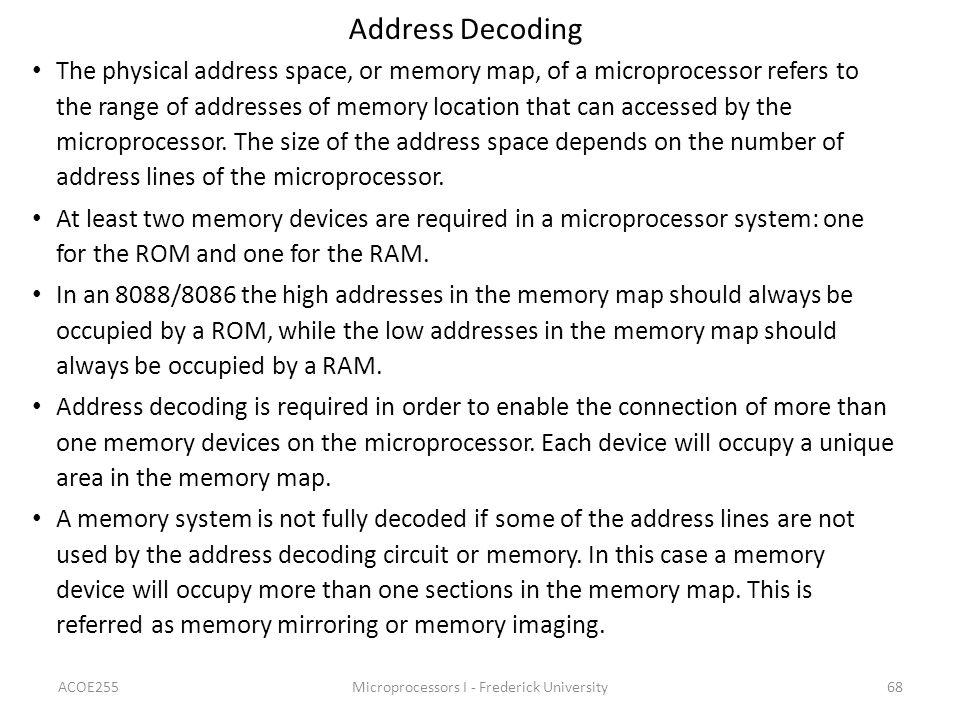 Microprocessors I - Frederick University