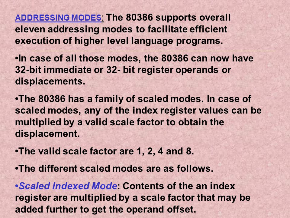 •The valid scale factor are 1, 2, 4 and 8.