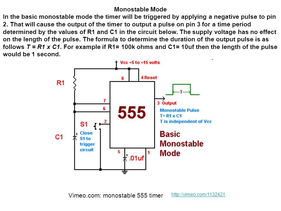 Vimeo.com: monostable 555 timer