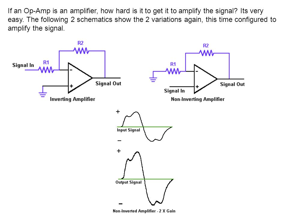 If an Op-Amp is an amplifier, how hard is it to get it to amplify the signal.