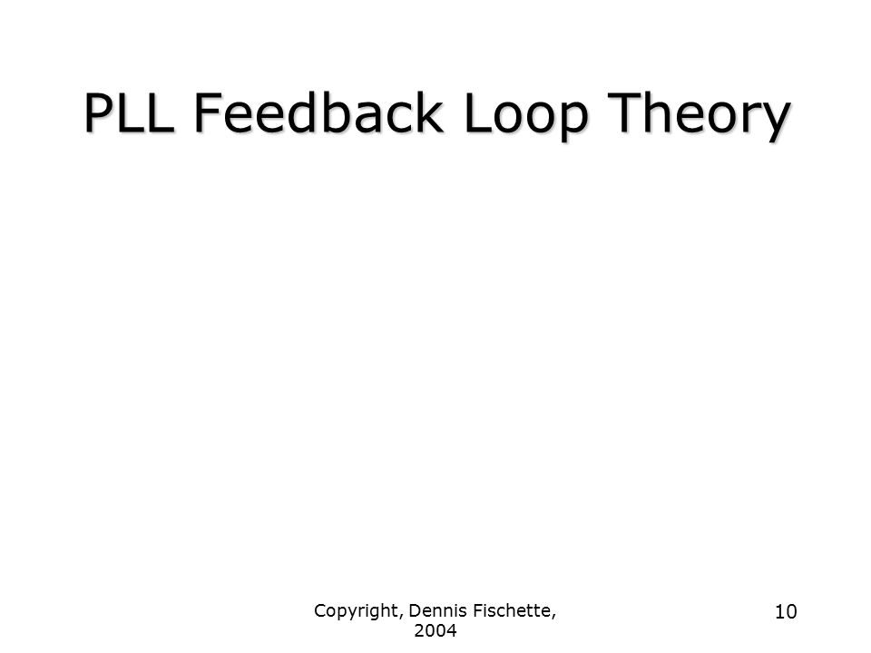 PLL Feedback Loop Theory