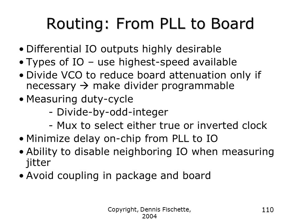 Routing: From PLL to Board