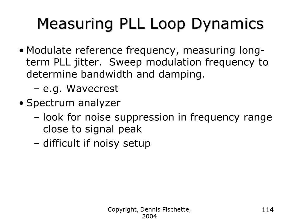 Measuring PLL Loop Dynamics