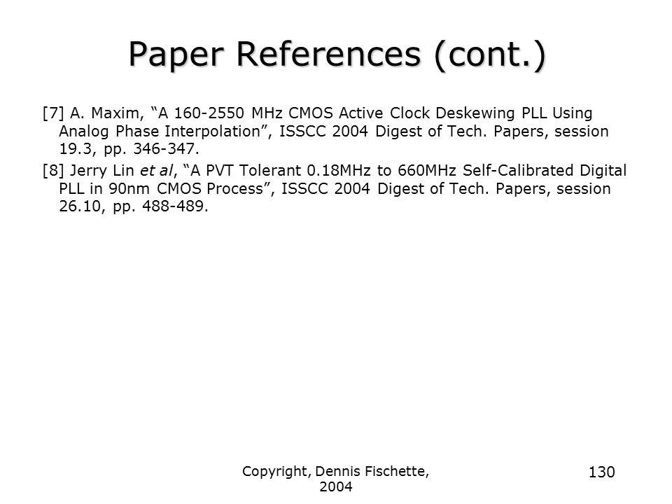 Paper References (cont.)