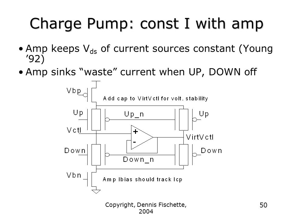Charge Pump: const I with amp