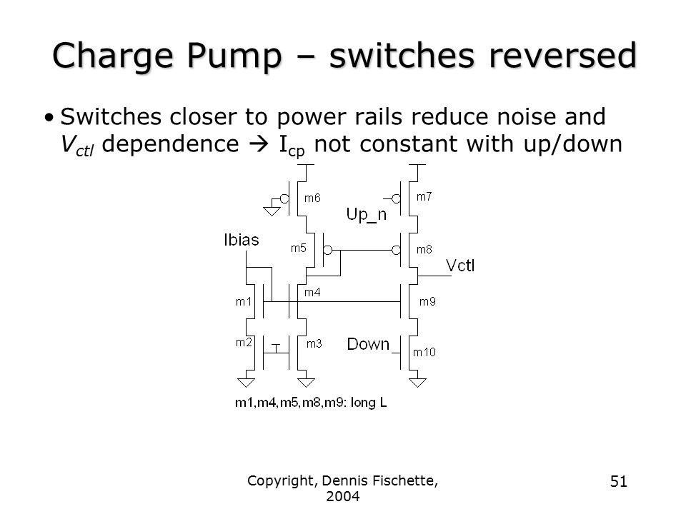 Charge Pump – switches reversed
