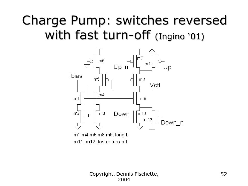 Charge Pump: switches reversed with fast turn-off (Ingino '01)