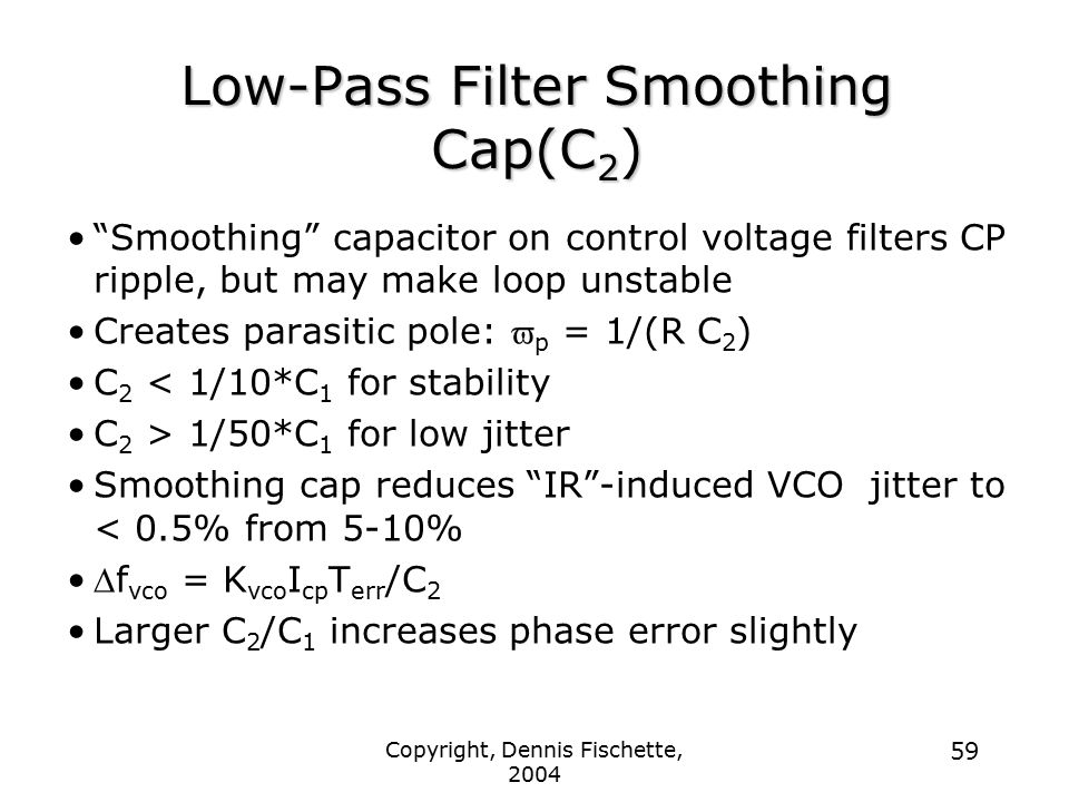 Low-Pass Filter Smoothing Cap(C2)