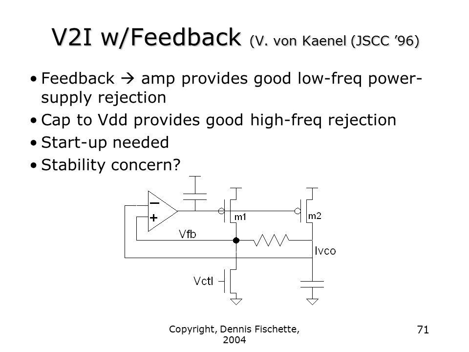 V2I w/Feedback (V. von Kaenel (JSCC '96)