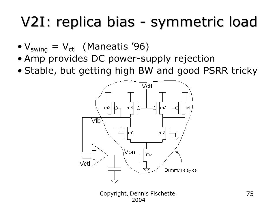 V2I: replica bias - symmetric load