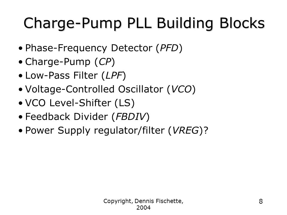 Charge-Pump PLL Building Blocks