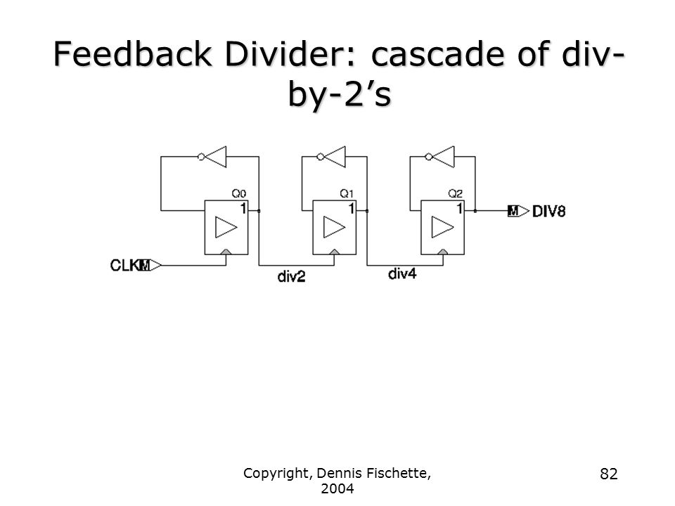 Feedback Divider: cascade of div-by-2's