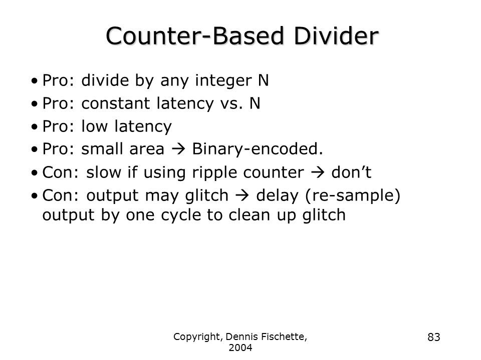 Counter-Based Divider