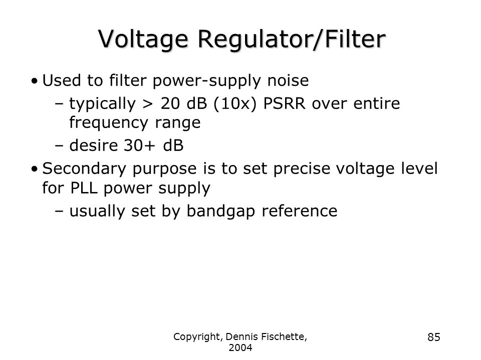Voltage Regulator/Filter