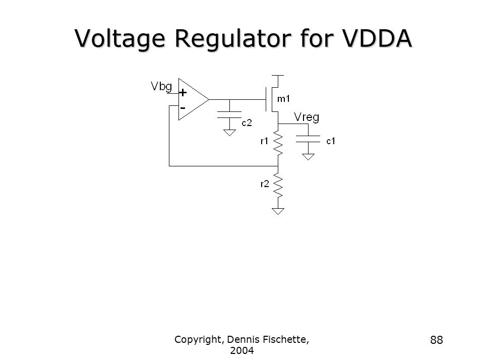 Voltage Regulator for VDDA