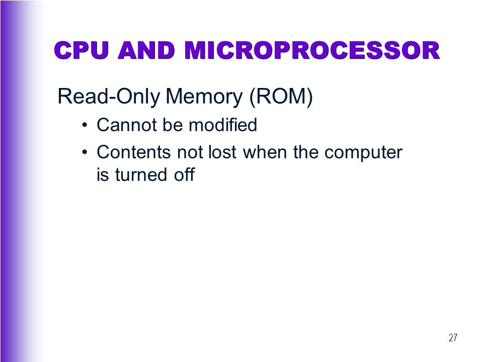 CPU AND MICROPROCESSOR