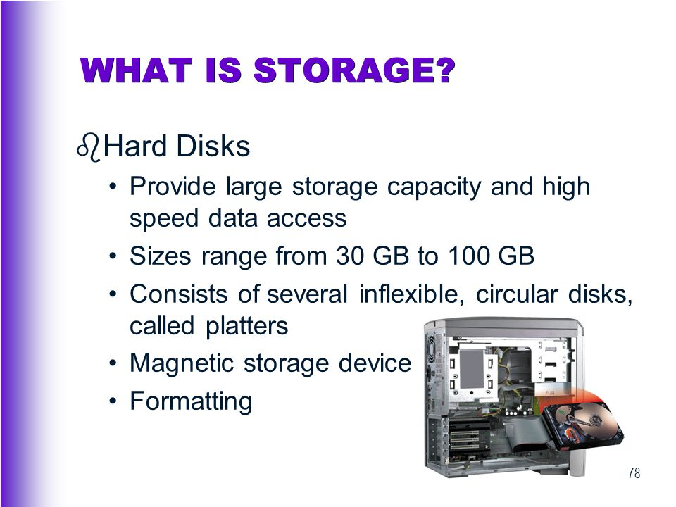 WHAT IS STORAGE Hard Disks